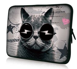 Coperchio molle del neoprene del calcolatore dell'alloggiamento sacchetto filtro del manicotto del computer portatile del gatto