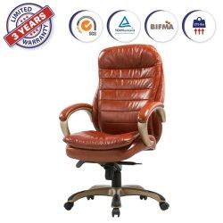Fauteuil en cuir Executive collé avec Lean en arrière et marche avant gamme haute Rembourrage confort siège ergonomique pour le Bureau de gestion d'accueil (YWA618)