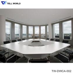 Mobiliário de escritório de pedra mármore artificial 12 Pessoa Mesa de conferência