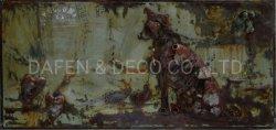 金属の装飾の油絵の壁の芸術犬の鉄3D次元