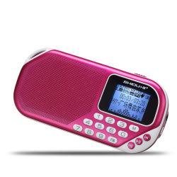 Giocatore di musica portatile del MP3 della porta della scheda di deviazione standard di Shidu S228 con l'altoparlante radiofonico di FM Digitahi