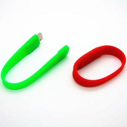 سعر الجملة الرخيصة مخصص الشعار PVC Silicone Wristband USB فلاش محرك أقراص سعة 8 جيجابايت وذاكرة سعة 32 جيجابايت