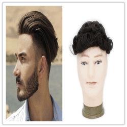 Noir naturel des cheveux humains Full Lace Wigs Toupee Cheveux humains pour les hommes haut de fermetures de cheveux de la Dentelle