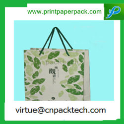 Zarte, grüne, einfach Zu Handhabend, Kraftpapiertasche mit Griff