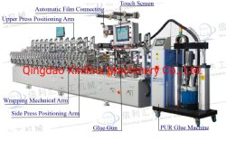 MDF Vacum Press Lamination, PUR MDF Lamineermachines Profielen Wrapping machine Series, Thermofoil Wrapping machine Prepare the Doors before Wrapping