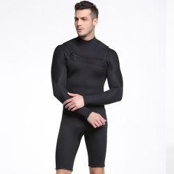 Os homens de 3mm Mergulho Neoprene Wetsuit tag curta Jumpsuit