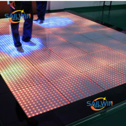 P10cm Acrilico Impermeabile Rgb Video Led Dance Floor Per Wedding Club Stage Show