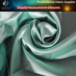 Polyester Slub Tissu en soie satiné, double effet pour vêtement / chaussures (R0039)