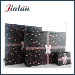 Colore Nero Con Sacchetto Di Carta Regalo Per Porta-Acquisti Pink Heart