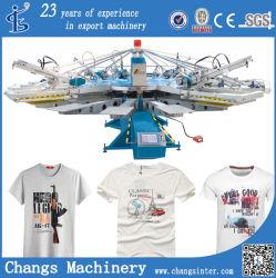 Machines van de Druk van de Serigrafie van de T-shirt van de Douane van de Reeks van Yh de Automatische Roterende op Stof voor Verkoop