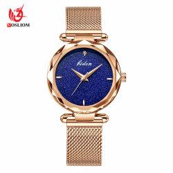 Nouvelles de l'aimant Populare montre-bracelet montres à quartz de mode Horloge femelle -v66