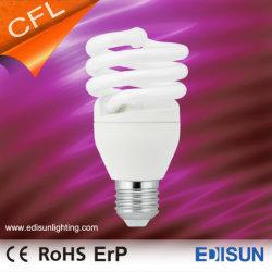 Venta caliente T2 Espiral 7W 9W 11W E27 Warmwhite Lámpara de ahorro de energía