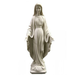 Figura estátua de mármore branco escultura de pedra de granito
