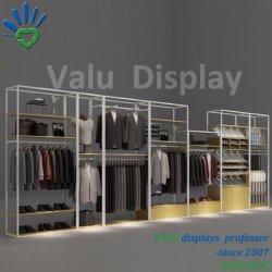 Kundenspezifische Mann-Bekleidungsgeschäft-Bildschirmanzeige-Regal-Möbel-Standplätze
