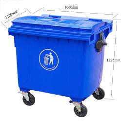 1100L lata de lixo de plástico transparente pode Ash-Bin Wastebin Lixo