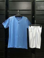 1819 Uitrustingen van de Voetbal van de Mens van de Reeksen van de Uniformen van het Voetbal van de Kleuren van de manier de Verschillende Blauwe