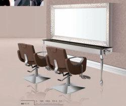 Commerce de gros de la gravure en acier inoxydable Miroir Salon Salon de Coiffure miroir pour la vente BX-011
