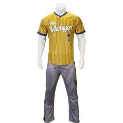 Healong SUBLIMATION Maillot de baseball de gros Stripe ensemble uniforme de Baseball personnalisé