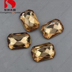 최신 좌절하는 점 뒤가 판매 10*14 팔각형 모양 모조 다이아몬드 가벼운 황옥에 의하여 면을 낸 수정같은 유리에 의하여 돌을 던진다