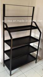Black moderno Slatwall Display Stand/Display per Timepiece, Cosmetics