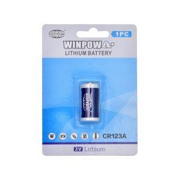 Cr123une batterie au lithium non rechargeable bleu