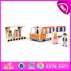Kid, Mini Bus Stop Building Blocks Toy, Educational Role Pley Bus Stop Wooden Toy W04b019를 위한 2015 선전용 Wooden Bus Stop Toy