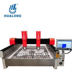آلات الحجر المنحني Hubening عالية الكفاءة CNC Engraver هلسد-2030-2 نحت الحجر آلة التفريز الزجاج الحروف مع رؤوس مزدوجة