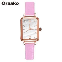 Бизнес-часы из нержавеющей стали полоса Wristwatch прямоугольник с набора кварцевые часы с световой указатель зеленый Quartz наручные часы