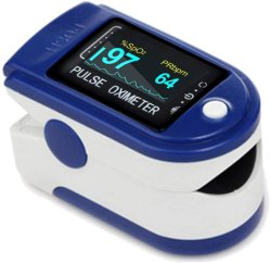 BatteriesおよびLanyardの指先Pulse Oximeter Blood Oxygen Saturation Monitor