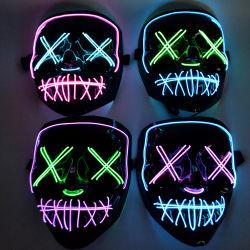 Halloween恐いマスクのCosplay LEDの衣裳LEDマスクELワイヤーはHalloweenの祝祭党のためにつく