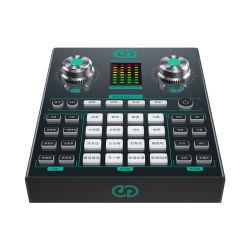St10 Mezclador USB profesional Musical Estudio de grabación de la interfaz de audio de la tarjeta de sonido Tarjetas de sonido para la emisión de streaming en directo PC móvil