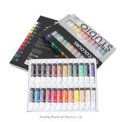 أنبوب ألومنيوم 24 لون 12 مل الطلاء بالزيت عالي الجودة الطلاء Pigment تجهيزات فنية