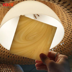 Полупрозрачные искусственного твердой поверхности полимера слоя камень панель для душа на стену