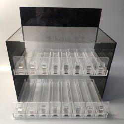 Deux niveaux de l'acrylique liquide E-cigarette en Perspex Showcase afficher