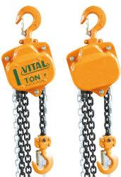 Polipasto de cadena de mano con el gancho de 1 tonelada de capacidad de carga