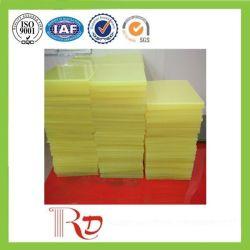 75 Shore A ورقة صفراء / حمراء شفافة ملونة من البولي يوريثان، ورقة PU، ورقة بلاستيكية لمانع التسرب الصناعي