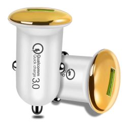 QC 3.0 быстрой зарядки адаптер USB автомобильное зарядное устройство для iPhone Micro-USB с телефонной линией зарядное устройство