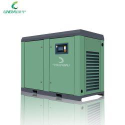 Lingyu 22kw 30HP 10bar 220 High Pressure Workshop Electric Rotary ضاغط الهواء ذو السعر البرغي الصناعي للماكينات الصغيرة التي تعمل بالسير