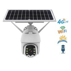 ワイヤレスバッテリー駆動ソーラー CCTV カメラ屋外アラート PTZ カメラ WiFi または 4G カードネットワーク IP セキュリティカメラ ICAM+ アプリ