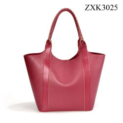 Het Winkelen van de Vrouwen van de Kleur van het Contrast van de Zak van de manier Pu de Handtas van Zwerfsters