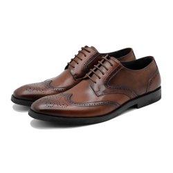 Comercio al por mayor de la moda de cuero de vaca 1 Mens vestido de cuero zapato zapatos hechos a mano Formal clásico de negocios