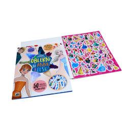 Les enfants de biens mobiliers Glitter autocollant UV et livre à colorier avec stylo d'impression