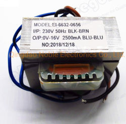 Trasformatore di potenza elettrica a nucleo EI 57 omologato UL