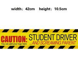학생 운전사 주문 PVC 차량 범퍼를 위한 자석 사려깊은 자석 차 스티커 전사술 표시