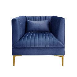 Домашняя стильный клуб диван Председатель Диван Pleated-Back кресло с золотой ног