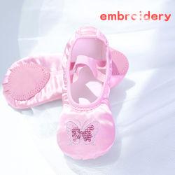 Квартиры эластичные балет обувь Satin балет обувь Embroider танцевальная обувь