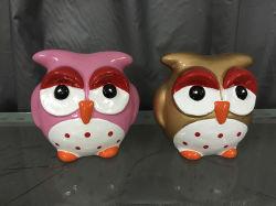 Cerámica popular lindo Owl figura colgando adornos para la temporada de primavera
