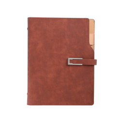 Magnetic A5 Writing Note Book Business Paux Leather Journal 노트북