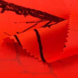 75D tessuto stampato fluorescente in velluto cerotto impermeabile in tessuto polare Tessuto per tute da caccia all'aperto