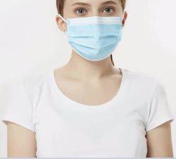Ce-Zugelassene Masken Hersteller Einweg-Gesichtsmaske Einweg-Gesichtsmaske Nicht Gewebte 3-Lagige Einweg-Ohrbügel-Gesichtsmaske